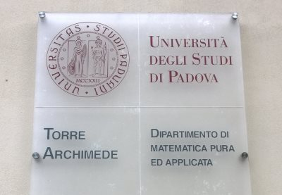 Torre Archimede sign, University of Padua