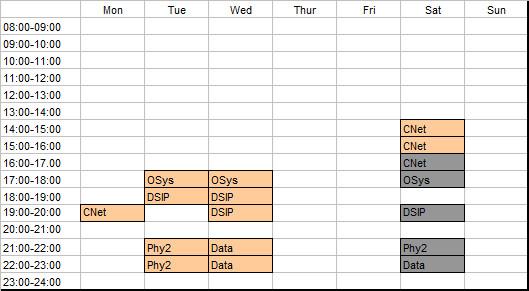 schedule-2nd-year-2nd-semester-2012-2013